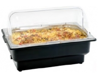 Chafing dish electric cu capac transparent